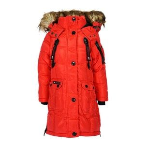 Canada Weather Girls Water Resistant Parka Jacket
